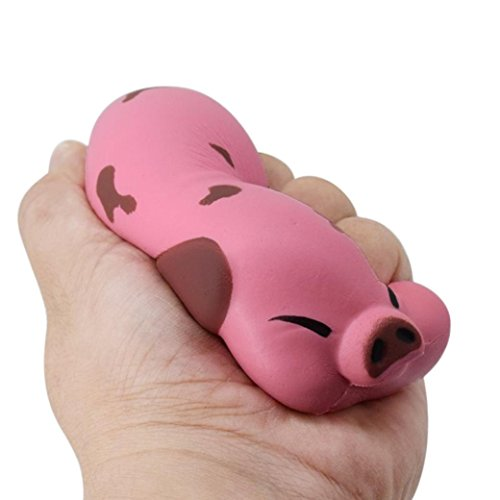 Reliever Toy, Hatop Squishy Kawaii Cute 12CM Jumbo Pig Scented Super Slow Rising Kids Toy Gift (D)