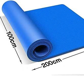 QI-shanping Ancho de la Estera de Yoga 1 Metro de Largo 2 Metros Colchoneta de Ejercicios Estera de Ejercicio Doble Estera de Alta Densidad NBR para Pilates, Ejercicio (Color : Blue, Size :