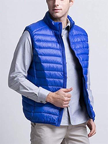 Sans Manches Hiver Vers Gilets Blau Chaud Bas Gilet Ultralight Unie Couleur Loisirs Hommes Travail Le Manteau Automne 8qx7wCzq