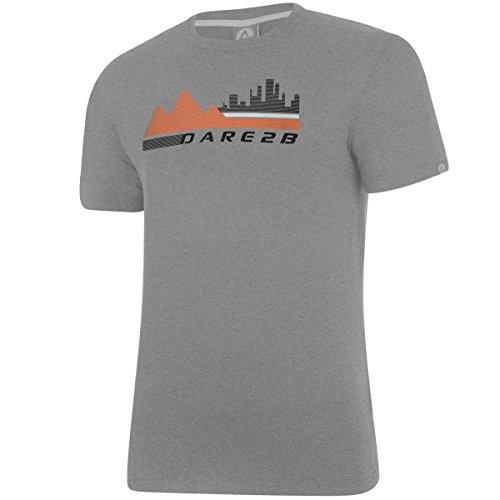 Dare 2b Men's Quick Drying Performance T Shirt - US XXL - City Scene - Ash (Dare S/s Tee)