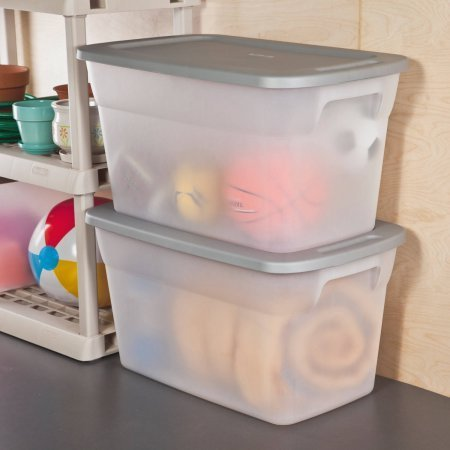 Case of 6 Sterilite 30 Gallon Tote Box- Clear (30 Gallon Tote)