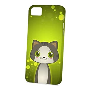 Case Fun Apple iPhone 5C Case - Vogue Version - 3D Full Wrap - Grey Tabby Cat by DevilleART