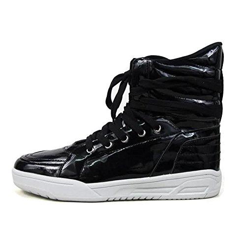 Uomo Tacco Casual da Colore Piatto Nero Scarpe Sneaker con da di Scarpe Cricket wxEqA0g66