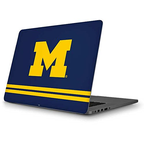 Skinit University of Michigan MacBook Pro 13 (2013-15 Retina Display) Skin - Michigan Logo Striped Design - Ultra Thin, Lightweight Vinyl Decal Protection by Skinit