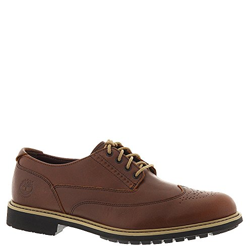 Mens Earthkeepers Leather Oxford (Timberland Men's Red Brown Full Grain Earthkeepers Stormbuck Brogue 10 D(M) US)