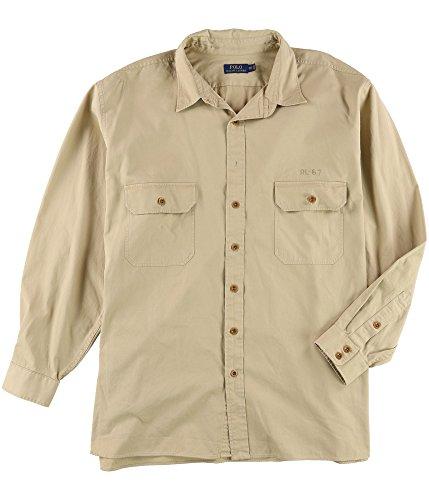 RALPH LAUREN Polo Men's Big & Tall Military Inspired Button Down Shirt-T-3LT