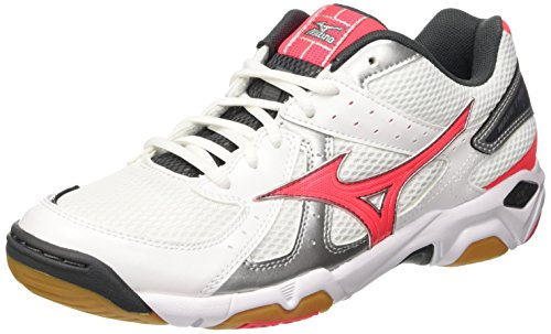Mizuno Wave Twister 4, Zapatillas de Deporte Interior para Mujer Blanco - White (White/Diva Pink/Dark Shadow)