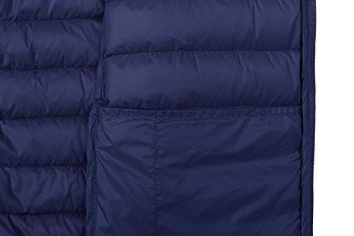 de Plumas para Marino Ligera Chaqueta Wantdo con Capucha Azul Hombre 6EBq5EpP
