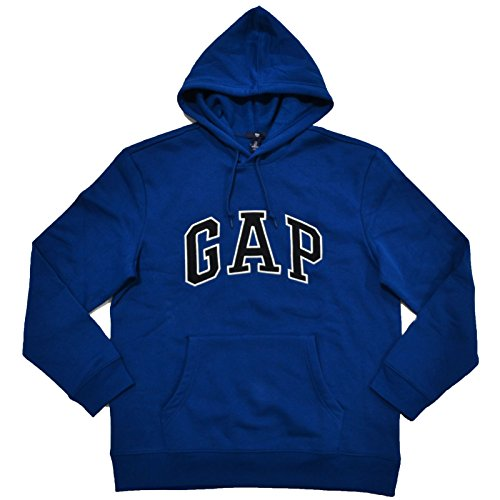 gap-mens-fleece-arch-logo-pullover-hoodie-m-dark-blue