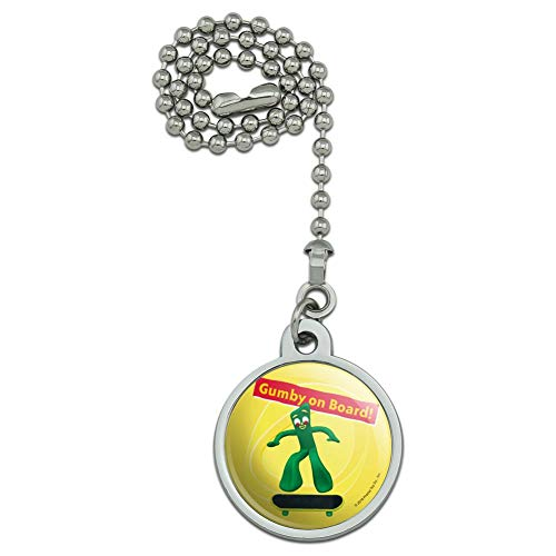 GRAPHICS & MORE Gumby On Board - Skateboarder Skater Ceiling Fan and Light Pull Chain