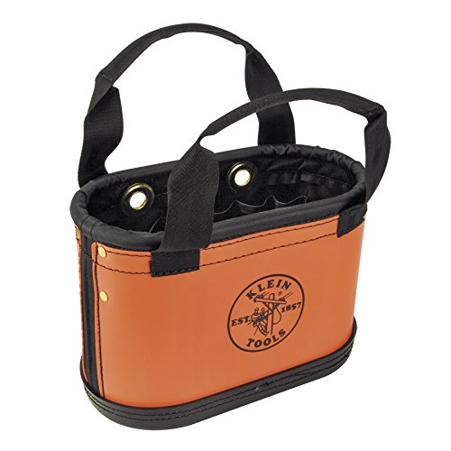 Bucket, Hard Body Oval Bucket with Sheath, Orange and Black Klein Tools 5144HBS