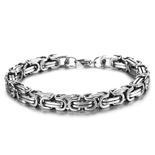 Jstyle Stainless Steel Male Chain Necklace Mens Bracelet Jewelry Set,8mm Wide,8.5 inch 22 24 inch