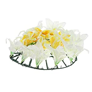 Homyl Artificial Silk Lily Funeral Memorial Wreath Flower Tombstone Grave Flower - D 105