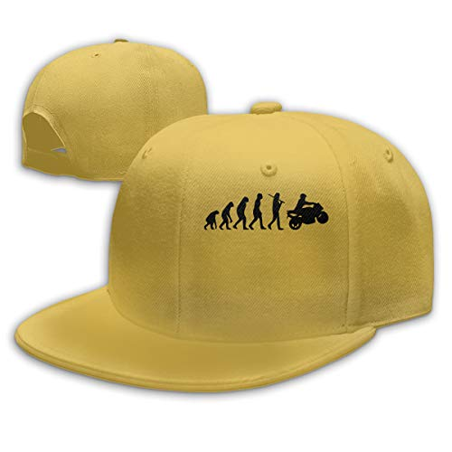 RCH-970 Motorcycle Evolution Men/Women Fashion Adjustable Baseball Cap Snapback Flat Bottom Cap Yellow ()