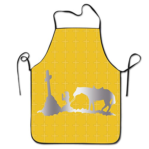 Cowgirl Cross Christian Platinum Style Kitchen Barbecue Apron - Bbq Christian Apron