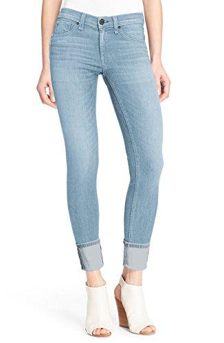 Cuff Skinny Jean (Women's Perfectly Shaping Stretchy Deep Cuff Denim Capri P43999SKX Light Wash 18)