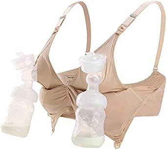 Hands-Free 2-in-1 Breast Pump Maternity Bra for Nursing and Breastfeeding Seamless Ultra-comfortable compatible with all Breast pumps including Medela, Spectra, Philips Avent etc - AU Shipping, Fast delivery