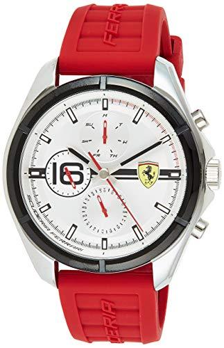 Scuderia Ferrari Speedracer Analog Silver Dial Men #39;s Watch 0830783