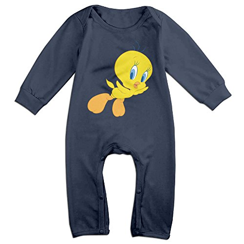 [Haru Flying Duckling NewBorn Boy's & Girl's Long Sleeve Bodysuit Outfits Navy 12 Months] (Make Shoulder Pads Football Costume)