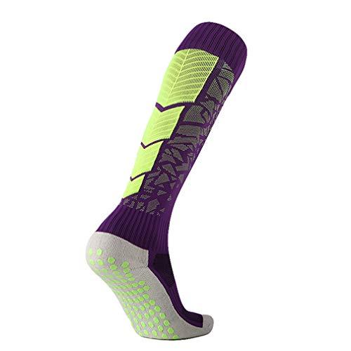 Fluorescente Gomma In Dots Verde Da Grip Calcio Sport Antiscivolo Calzini Pads Viola Fitness Chenqi XnwS6BqOx