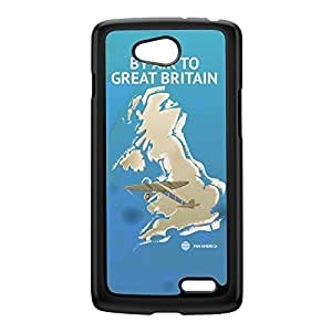 Great Britain Black Hard Plastic Case for LG L70 by Nick Greenaway + FREE Crystal Clear Screen Protector