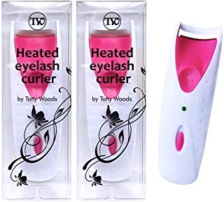 - Heated Eyelash Curler - 2 Pack Automatic, Battery Operated, Easy to Use, Suitable for All Lashes, Long Lasting, Slim and Portable, ABS Material, Perm Curler (Pink)