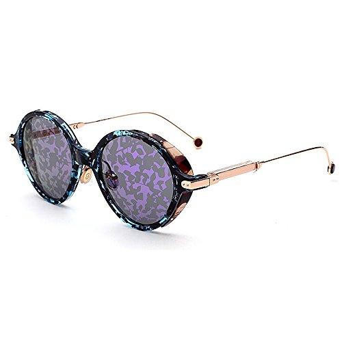 Frame de femmes Rimmed plastique soleil lunettes Lens couleur de pour de Lady Print pour la Style Délicat rétro soleil les Classique de lunettes élégant Placage lunettes en soleil Lun Violet unisexe conduite qc1Pz