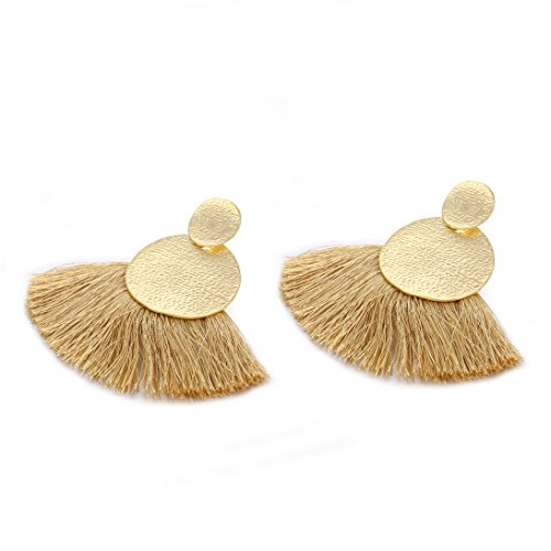(Fringed Earrings Hot Sale Bohemia national style Women Vintage Ethnic Jewelry (Brown))