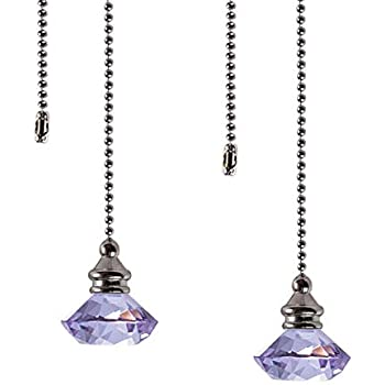 Ceiling Fan Pull Chain Set 2 Pieces Purple Diamond Fan