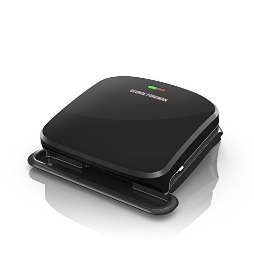 George Foreman 4-Serving Removable Plate Grill and Panini Press, Black, GRP360B For Sale