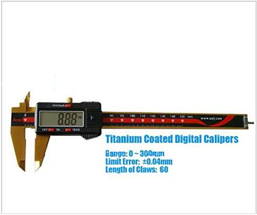 GOWE Range 0~300mm Tatanium Coated Digital Caliper / Measuring Instrument with 0.04mm Limit - Tatanium