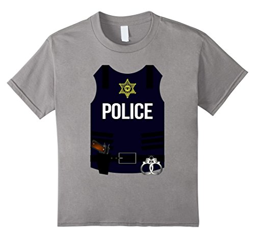 Kids Police Vest Halloween Costume Shirt - SWAT Men Women Youth 6 (Swat Police Vest Costume)