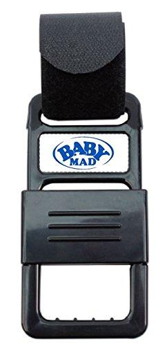 BabyMad® Cochecito Hook Me Buggy Clip universal fuerte y seguro correa de Velcro Buggy Cochecito Cochecito Clips BabyMad Ltd BM-HookMe