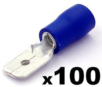 50 Kabelringschuhe blau M 6 Ringkabelschuhe für Kfz++