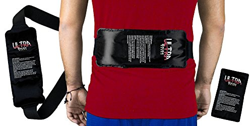 ultra-brisk-reusable-flexible-ice-pack-with-adjustable-wrap-for-hot-cold-therapy-black