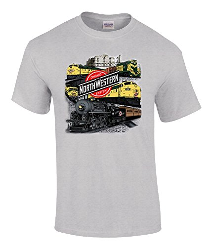 Chicago and Northwestern Collage T-Shirt Adult X-Large [49]