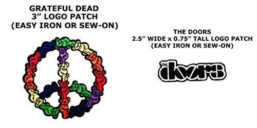 Costume Diy Dead Doctor (2 PCS Greatful Dead & The Doors Music Theme DIY Iron / Sew-on Decorative Applique)