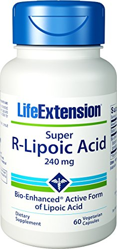 - Life Extension Super R-Lipoic Acid 240 mg, 60 vegetarian capsules (Multi-Pack)