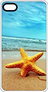 Lost Star Fish Waiting For High Tide White Rubber Case for Apple iPhone 5 or iPhone 5s Kimberly Kurzendoerfer