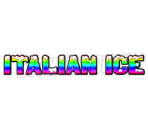 ITALIAN ICE Concession Die-Cut Decal sticker trailer cart sign