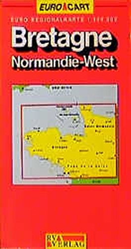 France Map Brittany/Normandy West (GeoCenter Euro ()