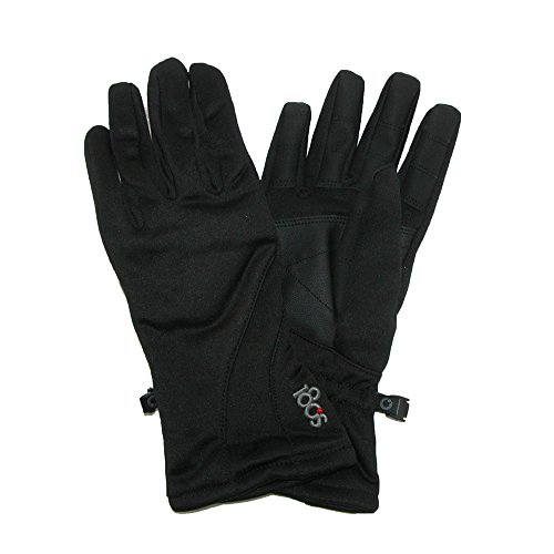 180s Women's Weekender Touch Screen Glove with Faux Leather Palm, Black, Large