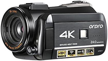 Videocámara 4K, cámara de vídeo Digital Ordro 4K Ultra-HD ...