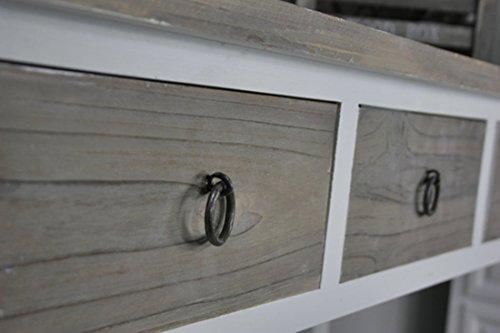 Tavolini In Legno Bianco : Elbmöbel tavolino da ingresso in legno motivo vintage