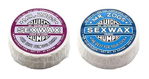 SexWax Quick Humps Mr Zogs Surfboard Wax/Cool Twin Pack - Purple + Blue