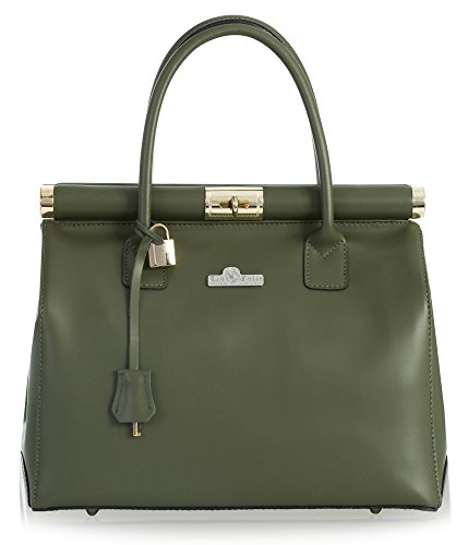 Vera Green Italy In Pelle Style Women Made For Liatalia Wallet Leather Bag Olive Matt B6wqFnd