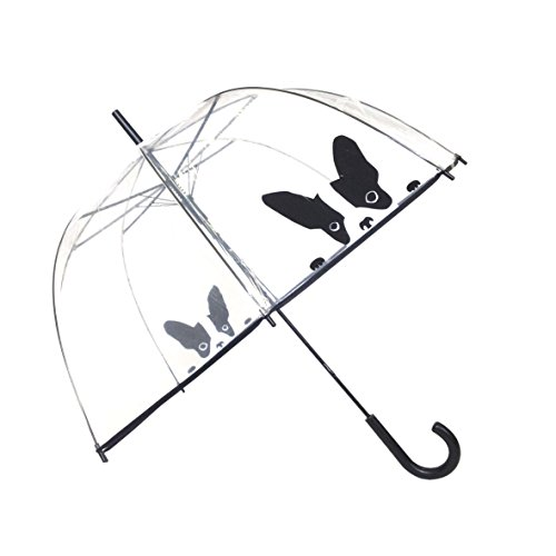 SMATI Stick Umbrella dome transparent - Auto Open - for Women and Kids (The Enhanced Edition (Clear Bubble Umbrella)