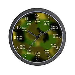 CafePress - military time camo clock - Unique Decorative 10 Wall Clock