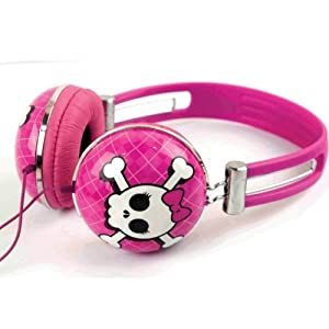 iWorld Headphones - Compatible with Apple IPod/IPhone and MP3 Player (One Size, Pink Rebel)
