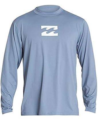 a72b772f Billabong Boys' All Day Wave Loose Fit Long Sleeve Rashguard Blue Slate 10